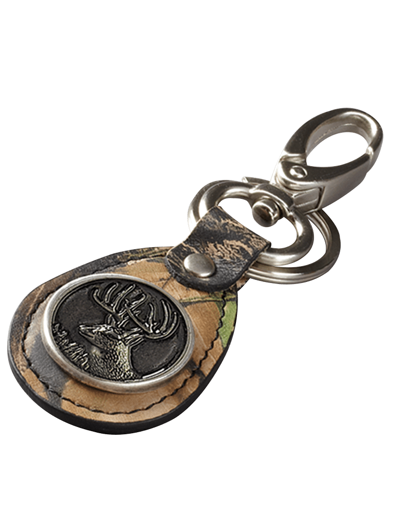 Camo Leather Key Ring