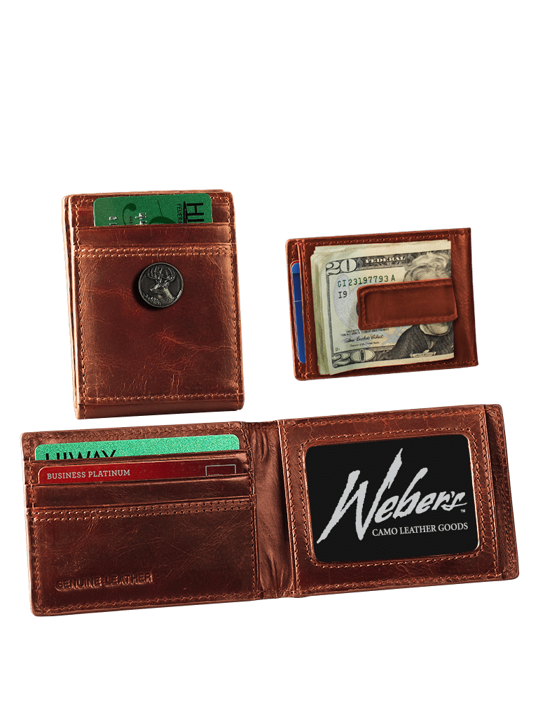 Leather Front Pocket Wallet w/Concho