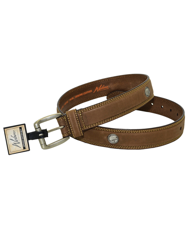 Split-Size Wildlife Leather Belts